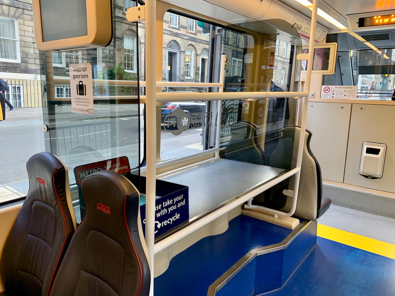 Edinburgh Trams Luggage Rack
