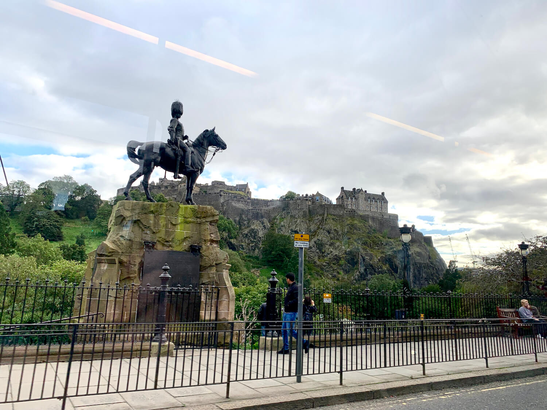 Edinburgh Castle - View From Edinburgh Trams