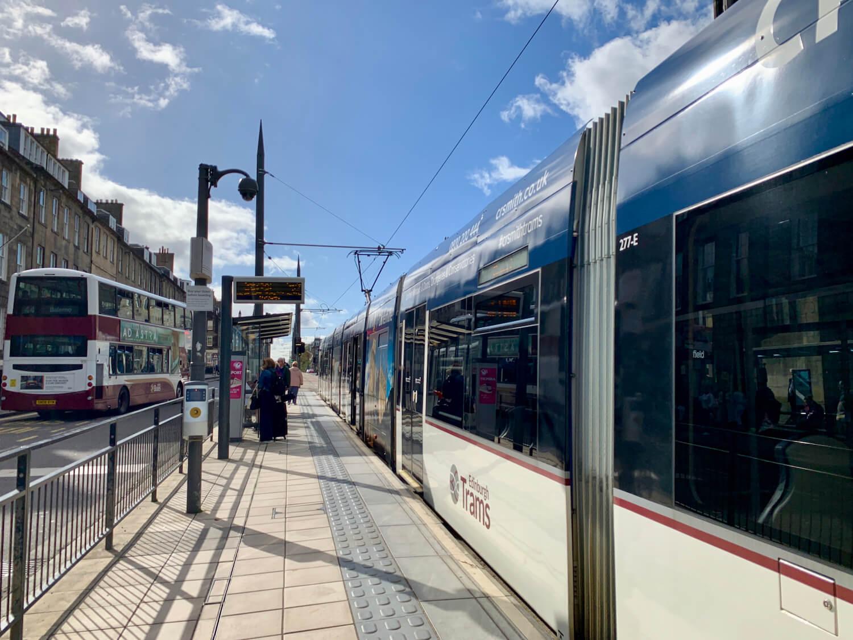 Edinburgh Trams York Place Stop