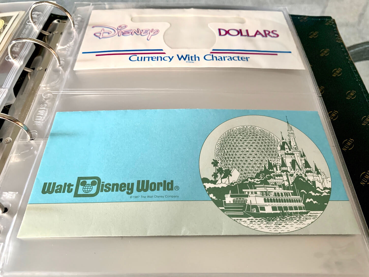 Disney Dollar Storage - Not In Envelopes