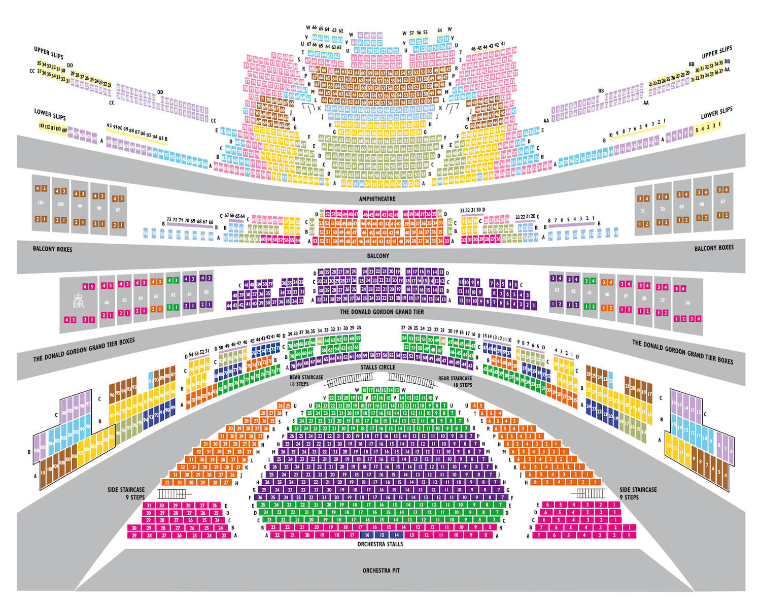 Royal Opera House - Seating Plan and Ticket Types