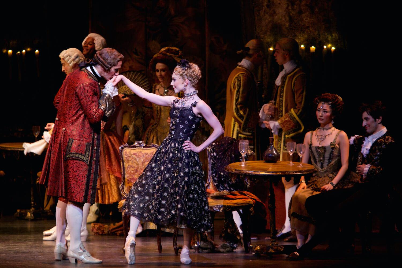 Manon. Sarah Lamb as Manon and Gary Avis as Monsieur GM. ©ROH, Alice Pennefather, 2014