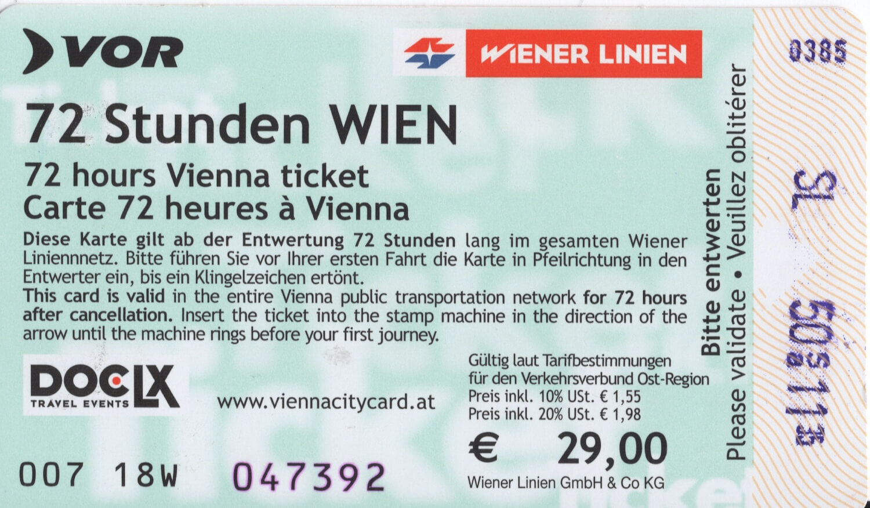 Vienna City Card Back