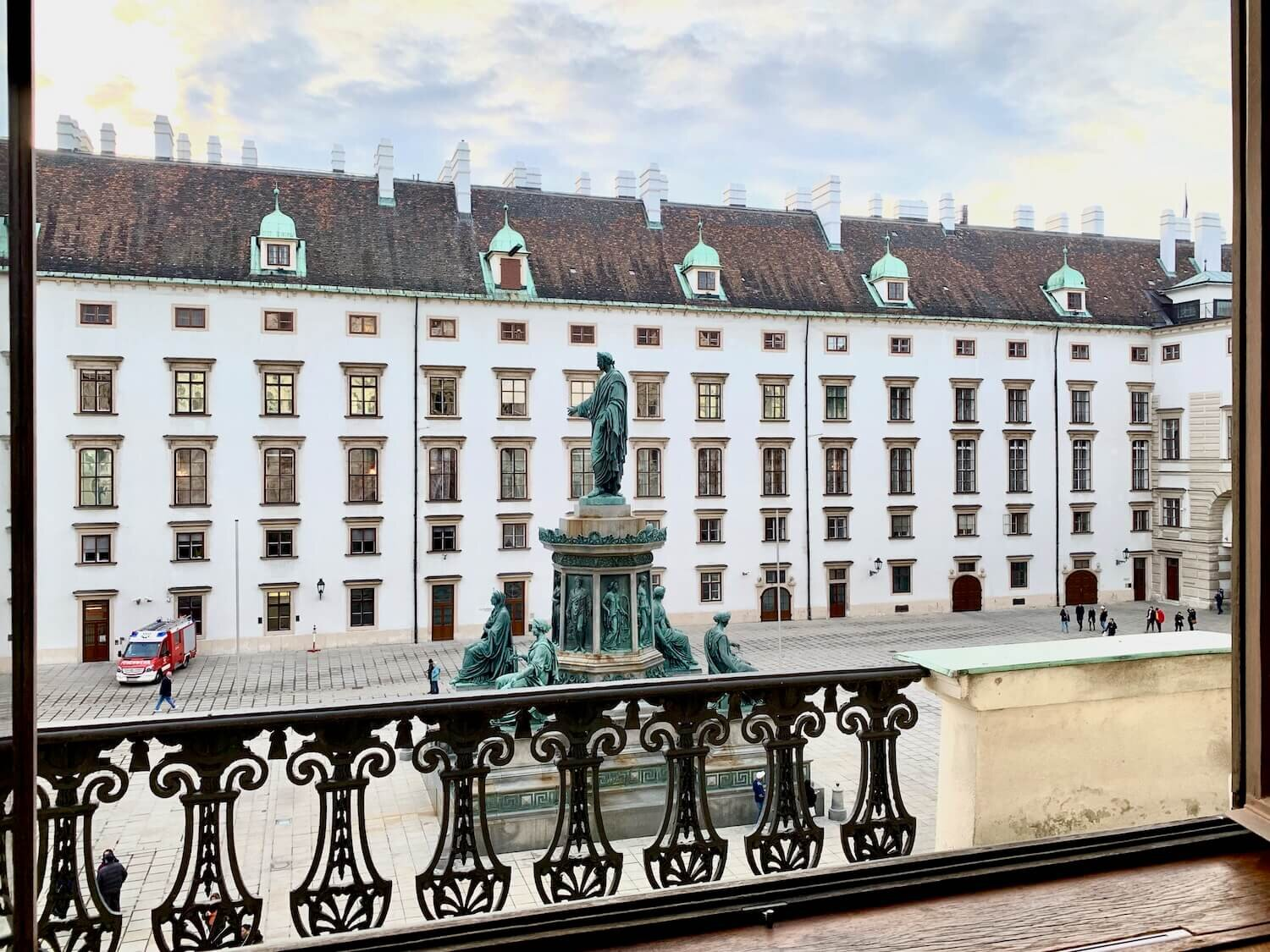 Hofburg Palace Museums - View on to Innerer Burghof