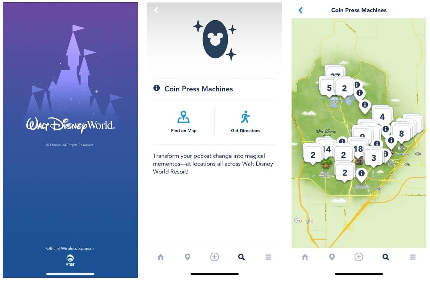 My Disney Experience App Search For Coin Press Locations