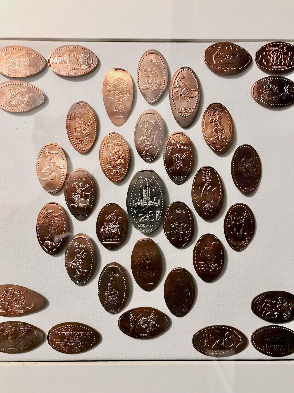 Walt Disney World Pressed Pennies Framed