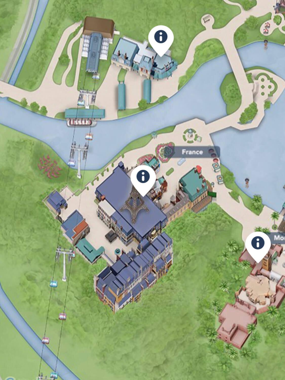 Walt Disney World Secret Pressed Penny Epcot France Pavilion