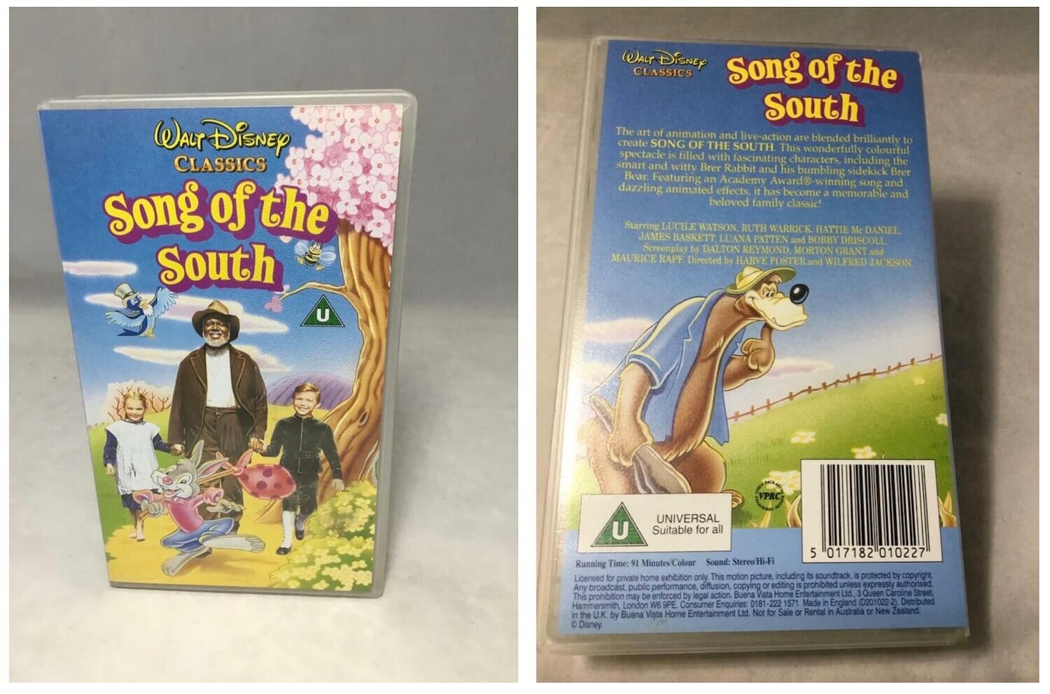 Disney Song of the South Rare Banned VHS
