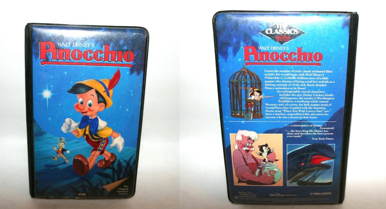 Disney Pinocchio Black Diamond Classic VHS