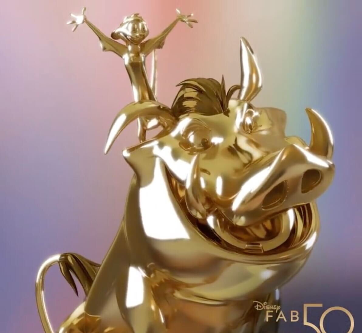Timon and Pumba Fab 50 Gold Character Statue.jpg