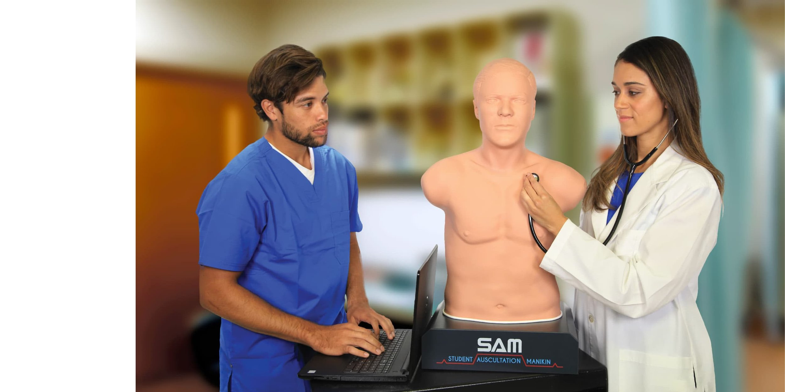 """""""With 1,200 students a year using them, the SAMs are my most useful tool. They're very dependable and functional."""" - — DR. BILL BOUDREAUX, ASSISTANT PROFESSOR + MEDICAL EDUCATOR AT UTMB SCHOOL OF MEDICINEVIEW SAM 3G →"""