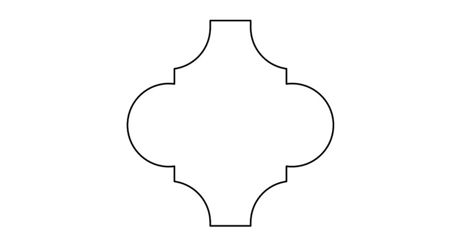 "6"" Arabesque Flat"