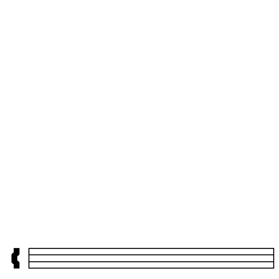 1 x 12 Stripe Liner