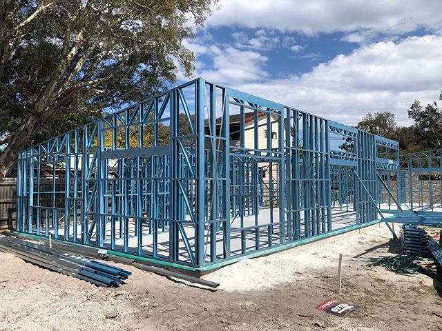 Frames are up! New build project at Blackwall, NSW