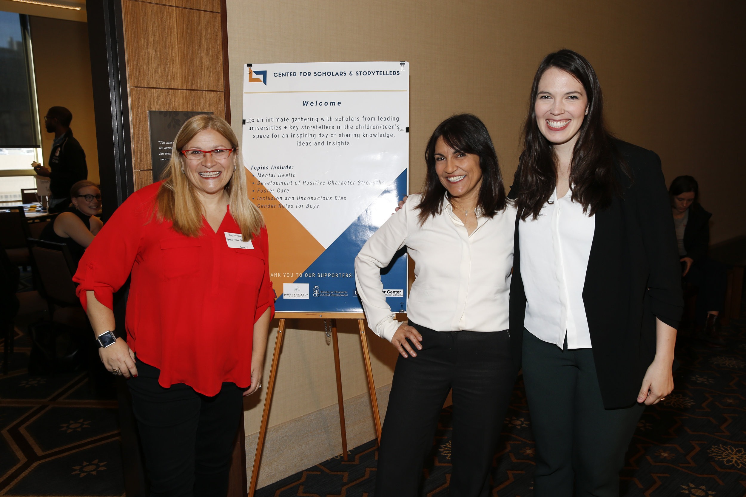 Co-Director Kim Wilson (left), Founder and Executive Director Yalda T. Uhls (center), and Co-Director Colleen Russo Johnson (right) welcome and introduce event topics.