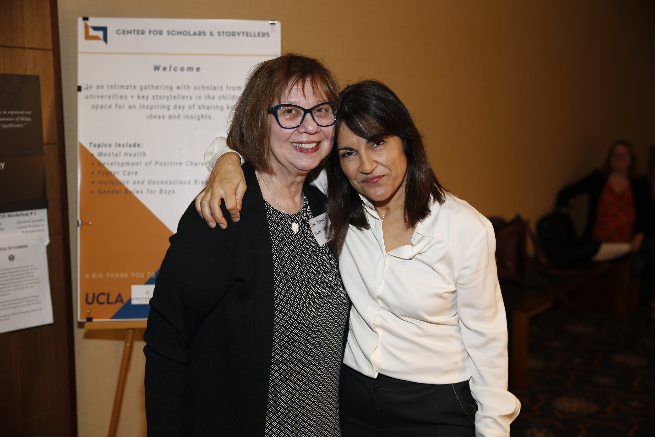 Chair and Professor of Communication Ellen Wartella, Ph.D. (left) Founder and Executive Director of CSS Yalda T. Uhls (right)