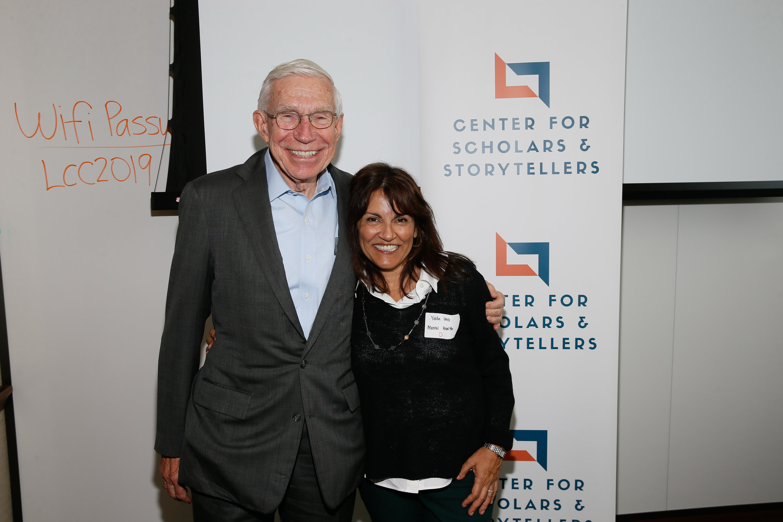 Business and Diplomat Frank Baxeter (left) with CSS Founder and Executive Director Dr. Yalda T. Uhls (right).