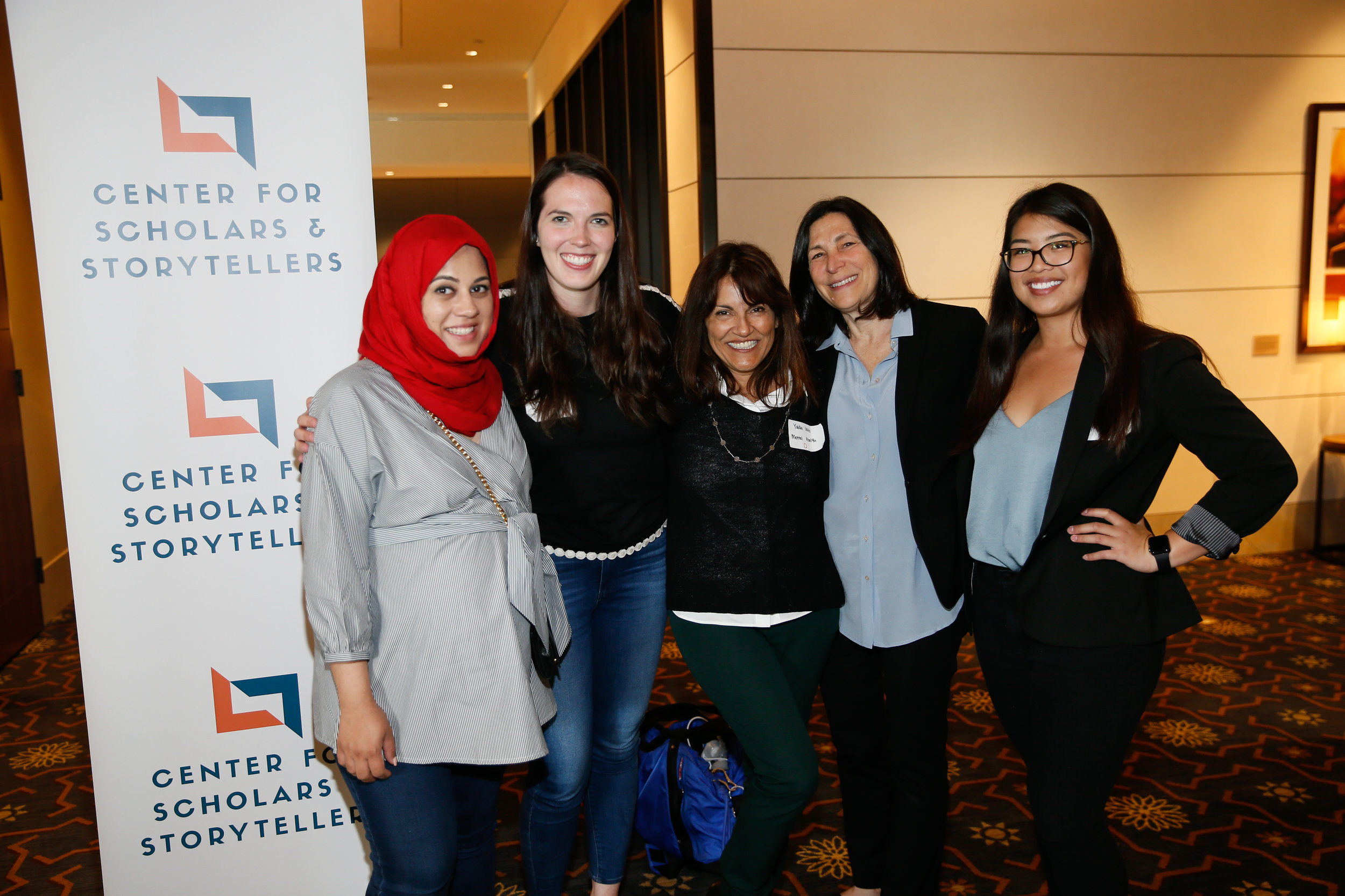Our team: (from left to right) Project Manager Yusra Farzan, Co-Director Dr. Colleen Russo Johnson, Founder and Executive Director Yalda T. Uhls, Chief Administrative Officer Louise Zeitzew, and Project Coordinator Caroline Fung, and Co-Director Kim Wilson (not pictured.