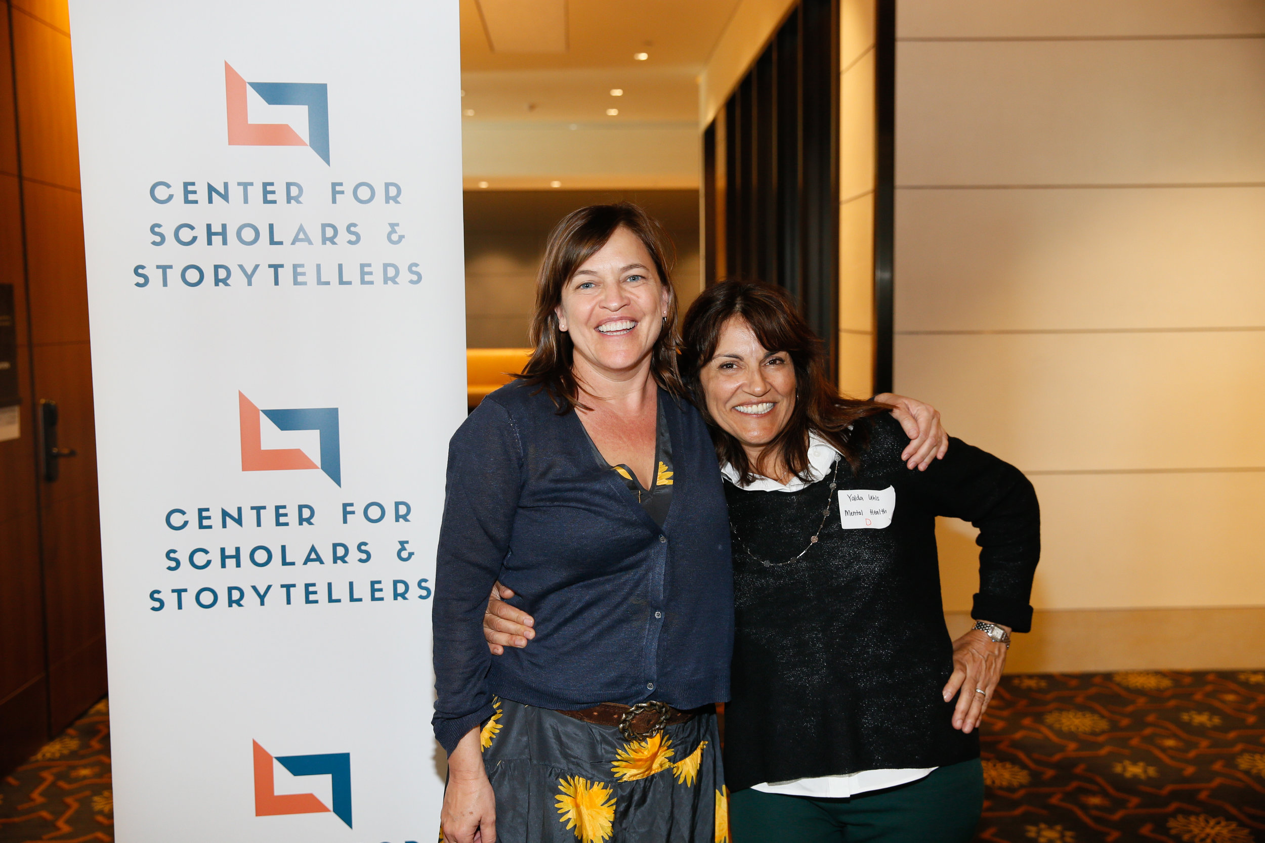 Executive Producer of Activism at Anonymous Content Bedonna Smith (left) with CSS Founder and Executive Director Dr. Yalda T. Uhls (right).