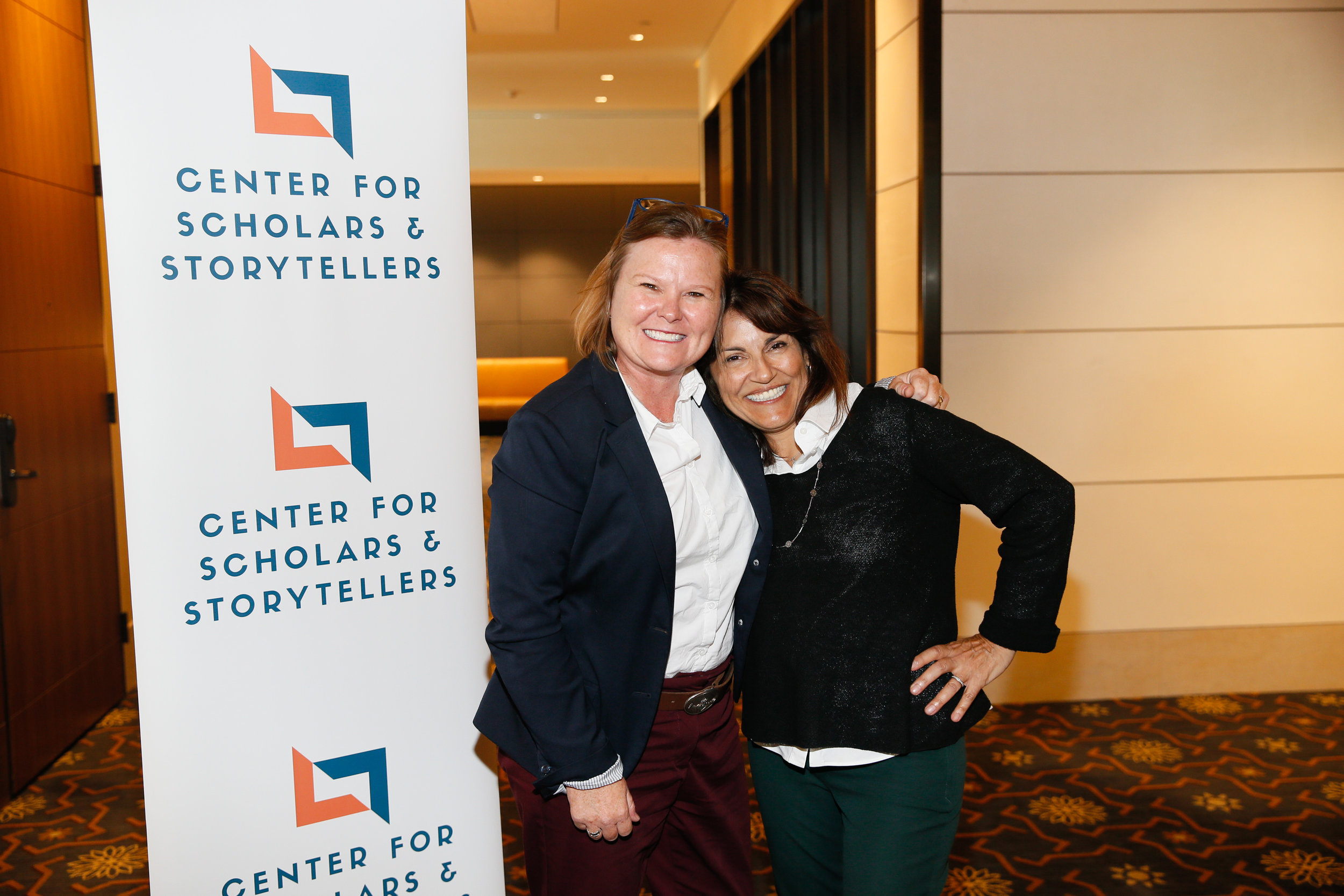 Chief Innovation Officer at Westside Children's Center Marianne Guilfoyle (left) with CSS Founder and Executive Director Dr. Yalda T. Uhls (right).