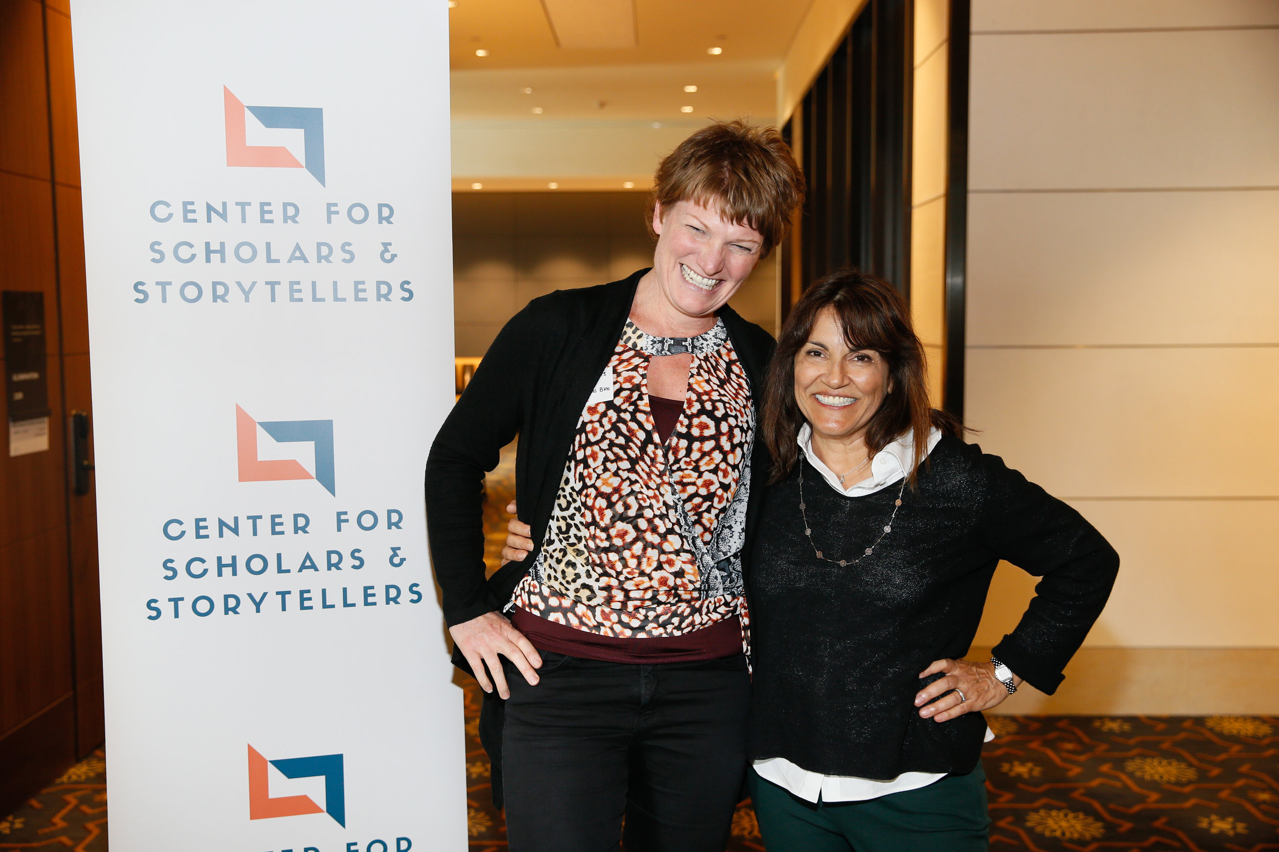 UCI's Dr. Candice Odgers (left) with CSS Founder and Executive Director Dr. Yalda T. Uhls (right).