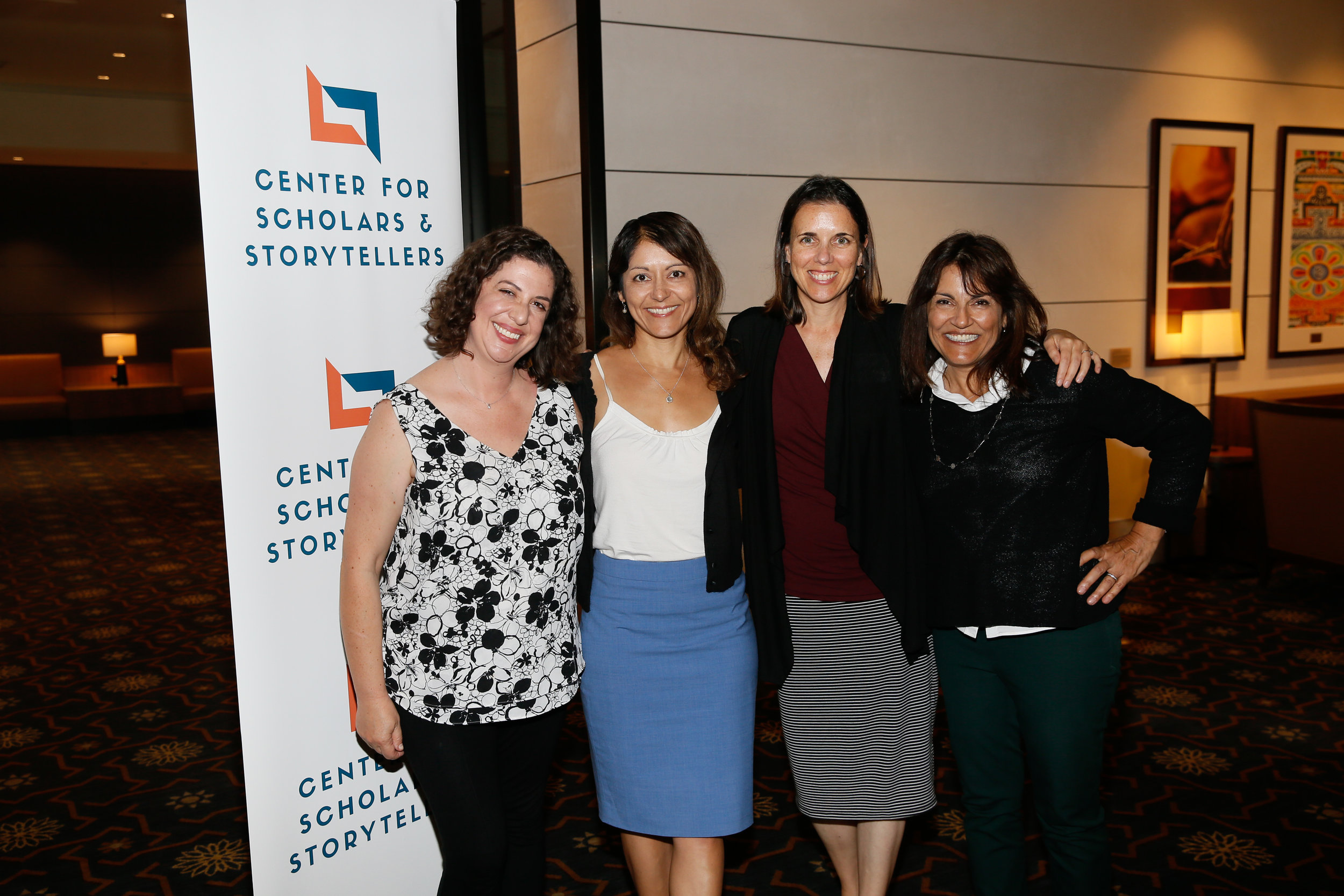 (from left to right) USC lecturer in communication Laurel Felt, UCSB Associate Professor Maryam Kia-Keating, Manager of the Center for Youth Mental Health and of Community Partnerships at Stanford Department of Psychiatry and Behavioral Sciences Vicki Harrison, and CSS Founder and Executive Director Dr. Yalda T. Uhls.