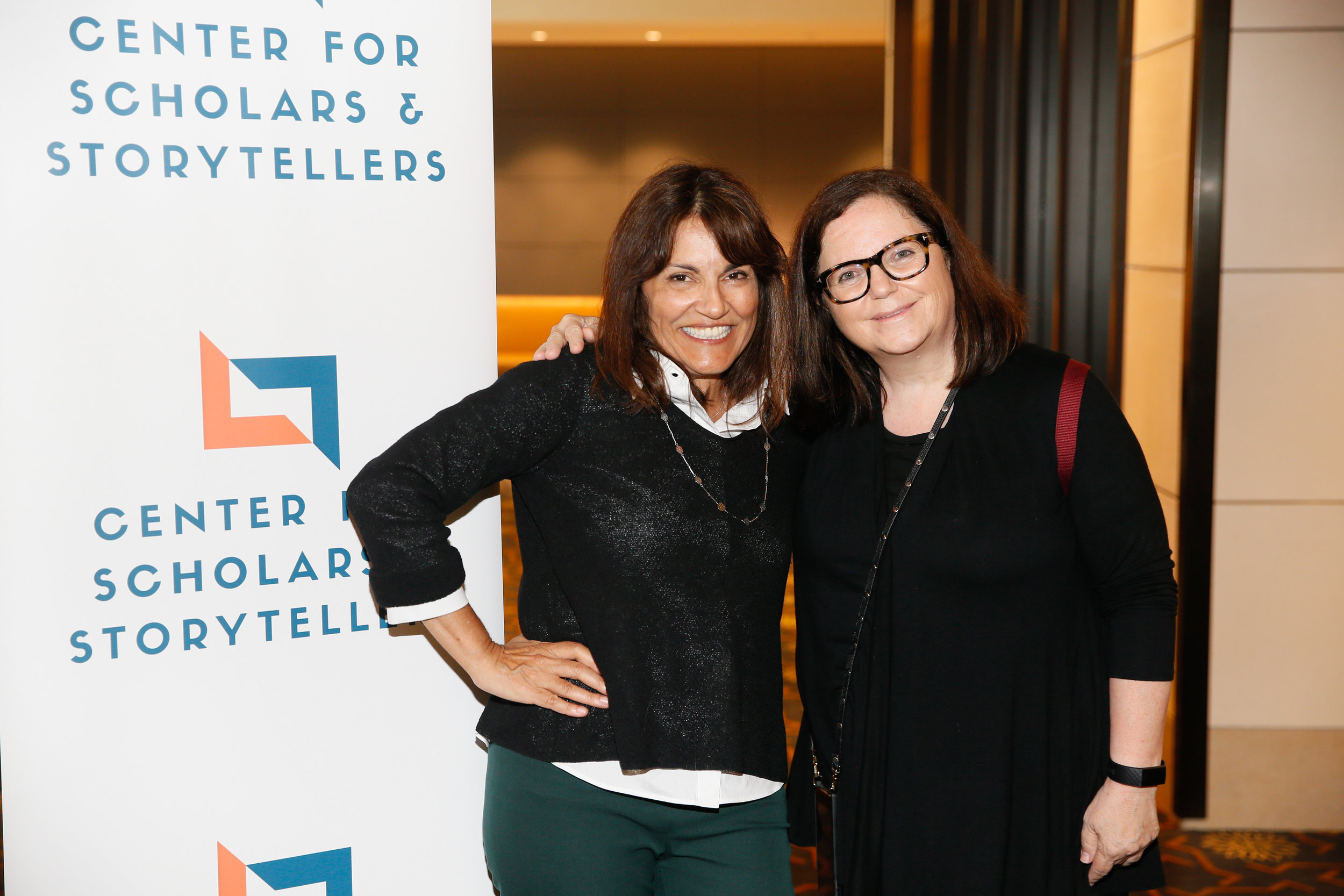 CSS Founder and Executive Director Dr. Yalda T. Uhls (left) with Senior Vice President of Strategic Alliances at Participant Media Lynn Hirshfield (right).
