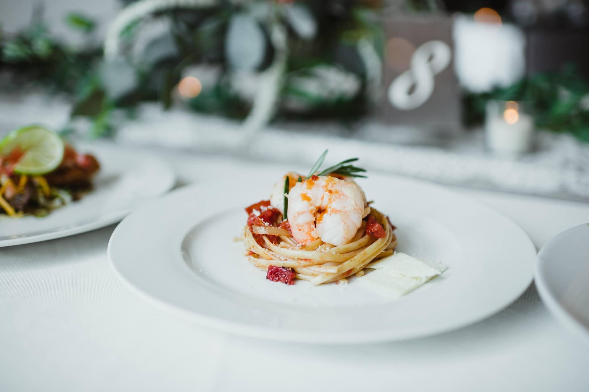 Shrimp Linguini Fra Diavolo.