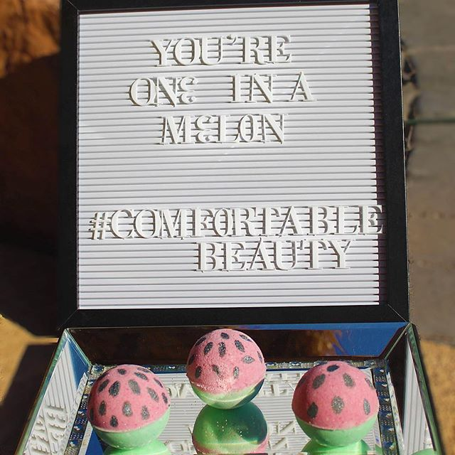 You're one in a melon 🍉 #comfortablebeauty #watermelon #bathbombs #bathbomb #summerscents #juicywatermelon #summervibes #soaps #bath #spa #cbdbathbomb #cbd #cannabiscommunity #comfortablebeautydirect #comfortbeautydirect
