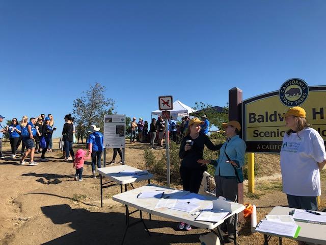 LA Audubon Staff & Volunteers information tables at the Earth Day 2019 habitat restoration event at BHSO
