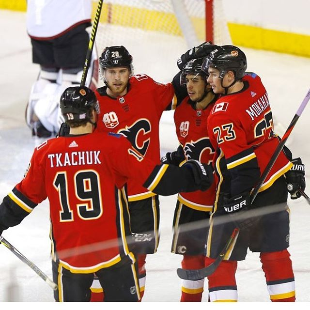 Watch the game with us TONIGHT for your chance to WIN Flames Tickets for this Saturday night's game with the Flames going up against Stanley Cup Champions, St Louis! #calgaryflames #goflamesgo #hockeycalgary #nhl #calgaryspubs