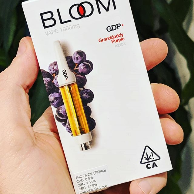 Trying out some #GrandaddyPurple for the first time tonight. The strain is a heavy Indica used often to combat stress,  insomnia, and pain among other things. It's living up to it's reputation to cause extreme relaxation. Do you have a favorite strain? . . #TheBloomBrand #Cannabis #marijuana #cbd #thc #cannabanoids #endocannabinoid #legalizeit #legalizeitalready #420 #cannabisculture