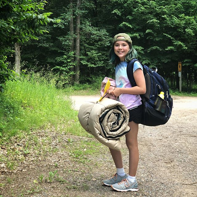Dropped her off at her first overnight camp without mom😥 impressed with her attitude (excited and not fearful even though she knows no one) but sad these are no longer mom and me weekends. They grow up so fast don't they?