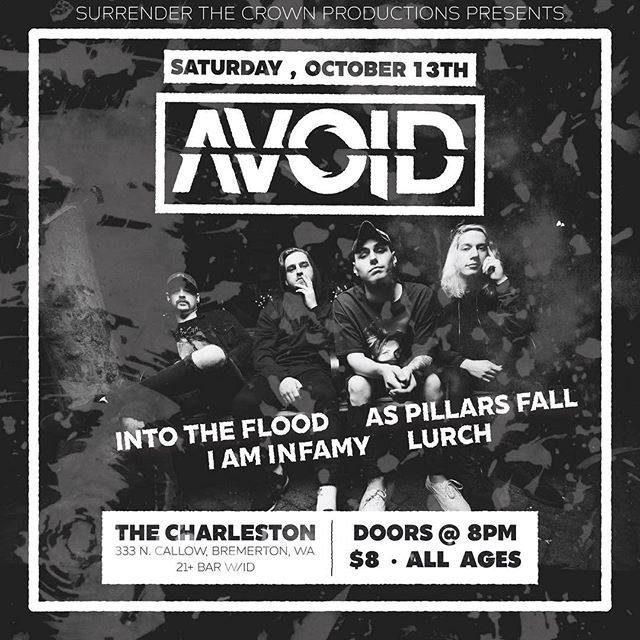 We are stoked to play Bremerton Wa with our boys @weareavoid this Saturday!