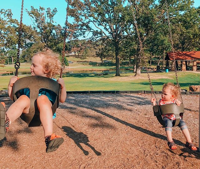 Yesterday I drove around Little Rock with the girls, on a mission to find a good park to play at. We found such a great park! Ducks, playground with tunnels and climbing area, swings, and tons of walking paths. Bring a good stroller so you can walk around! There were lots of active people running and walking, so if you are a runner— this would be a good place to come!