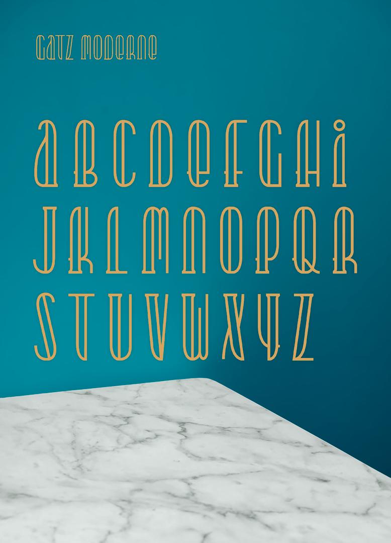 Gatz Moderne Typeface