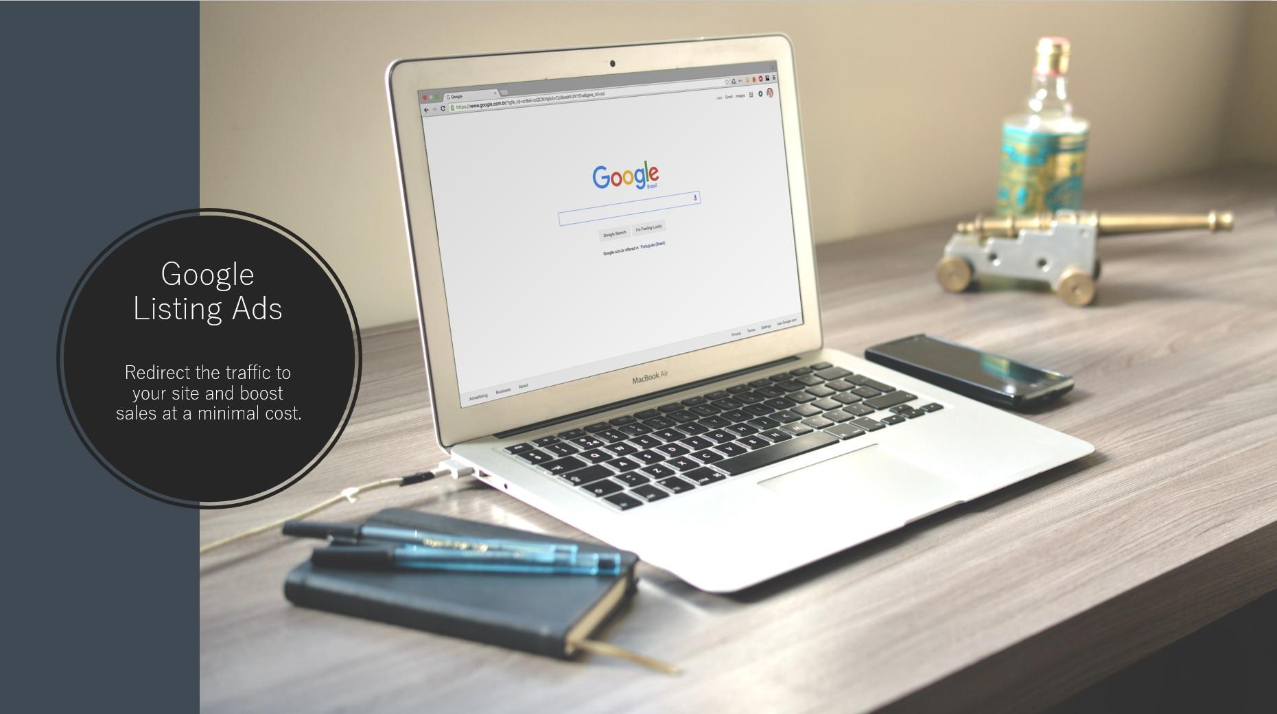 Google listing Ads.
