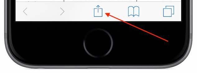 """Klicken Sie in Ihrem Browser auf das im Bild markierte Symbol. Im Menü, welches sich danach öffnet, haben Sie die Möglichkeit die Option """"Zum Home-Bildschirm hinzufügen"""" auszuwählen. Von nun an, können Sie bequem über ein Icon auf Ihrem Smartphone den Art on Ice showguide öffnen."""