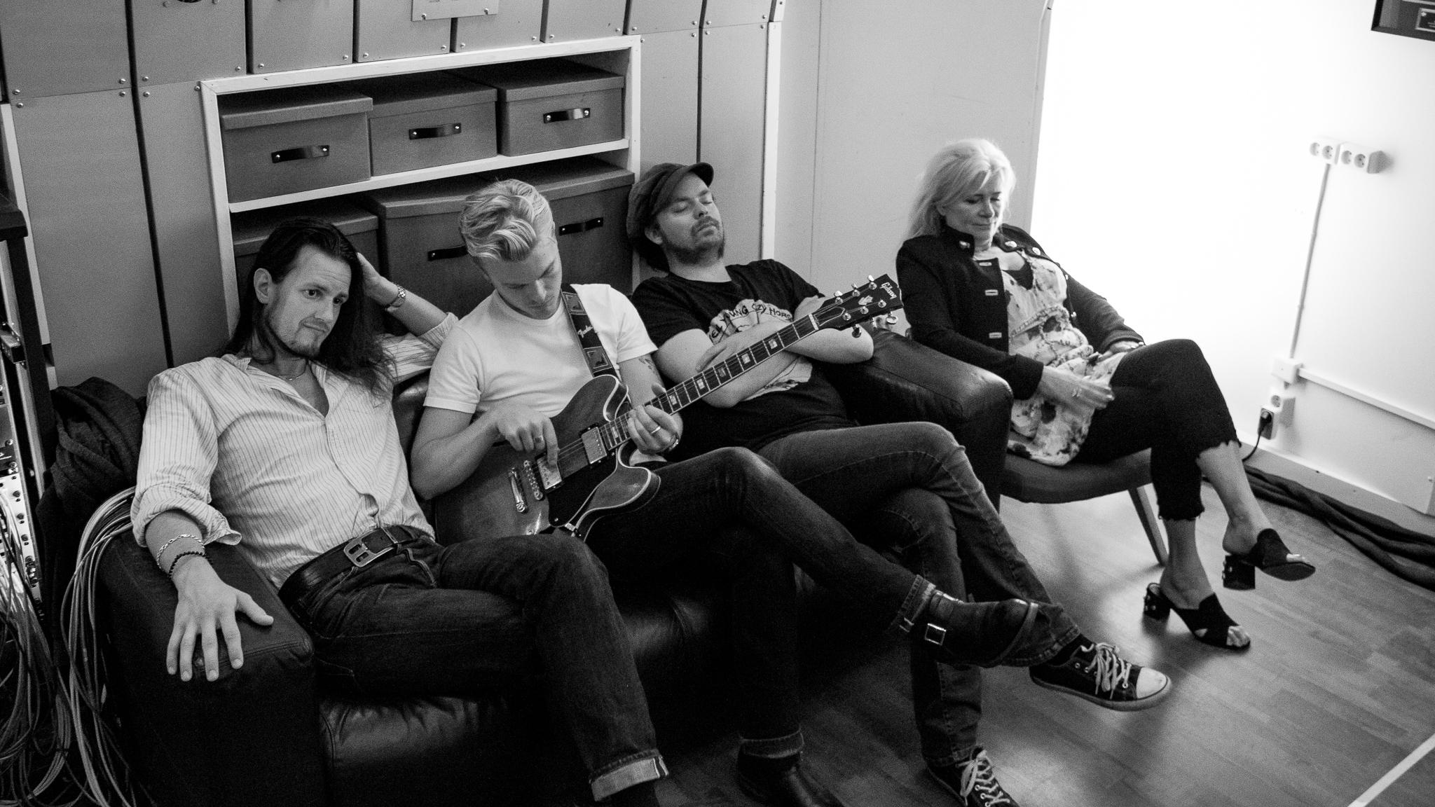 Boiling Blues Band: Ola Göransson, Johan Östergård, Morgan Korsmoe and Annika Andersson