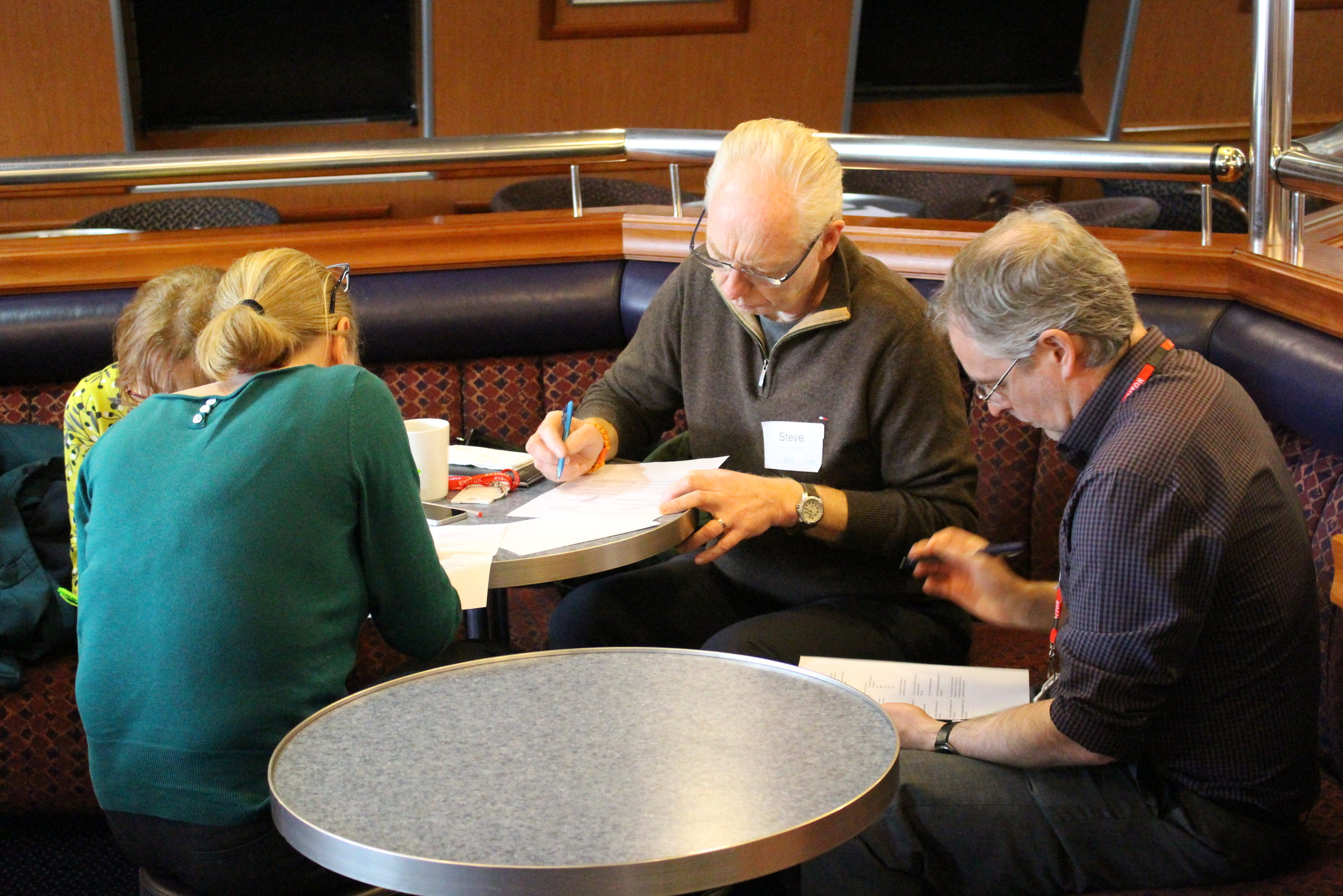 Image showing workshop participants considering questions and sharing their experiences (Image: NorthLink Ferries)