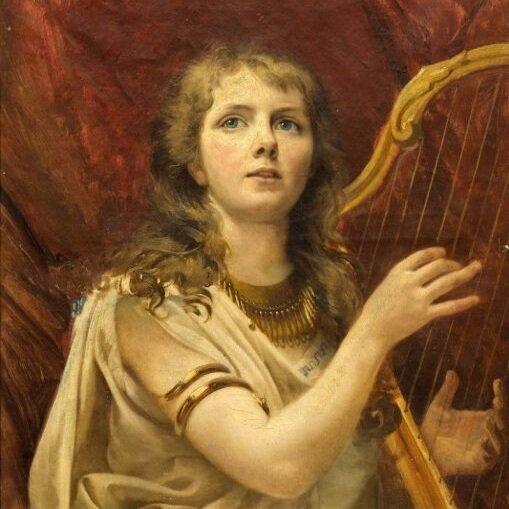 The-Harp-Player-Alexei-Korzukhin-Oil-Painting-510x634.jpg