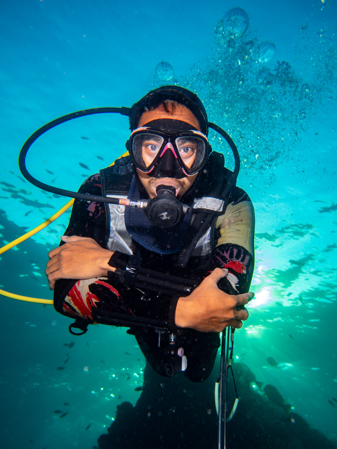 Say hello to my dive guide, Rick!
