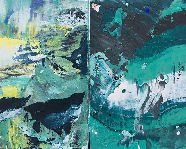 #weekend #paintmixing #mashitup #artstudio