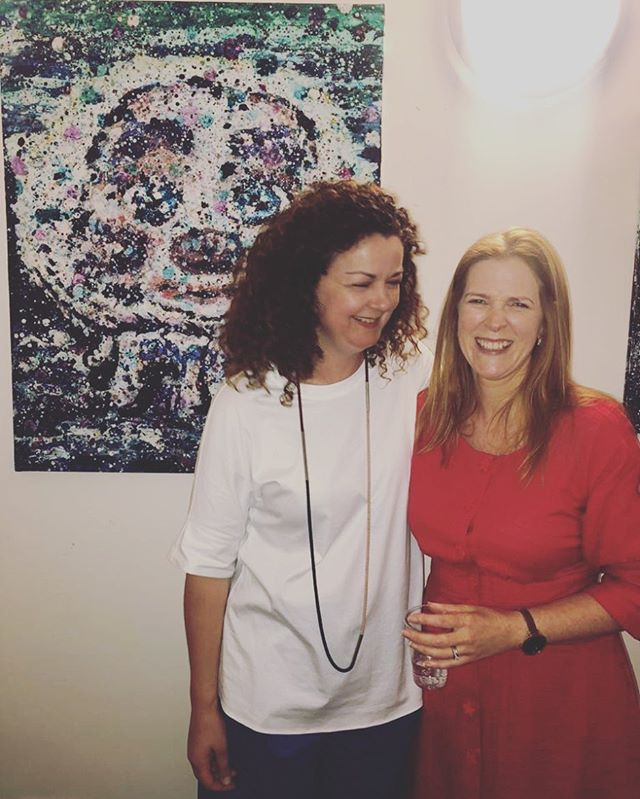 Opening night with Mars #artopening #fleadhcheoil2019 #irishartist #contemporaryart