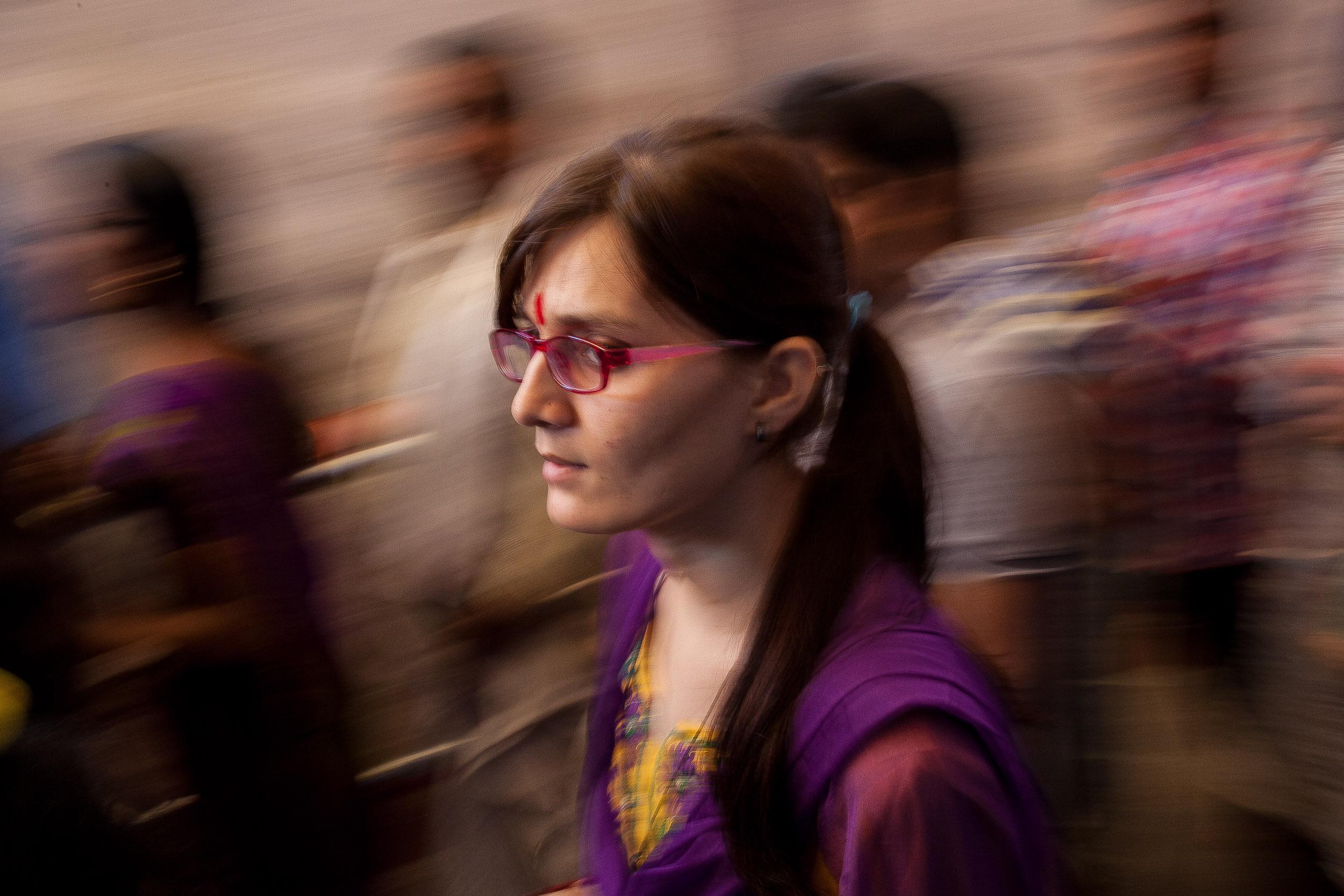 A devotee perambulating around Chilkur Balaji Temple sanctum sanctorum in hopes to get a H-1B visa.