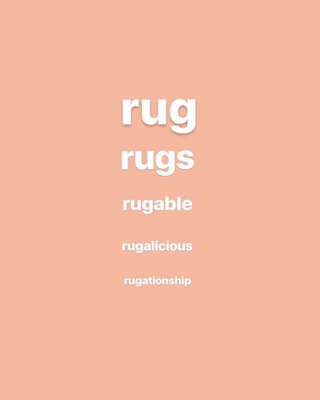 rug is a root word 😅⠀ ⠀ #raharoho #moroccanrugs #moroccancarpets #materialswithmeaning #slowfashion #handsnotmachines #interiordesign #morocco #rugs #yvr #livingroom #decor #design
