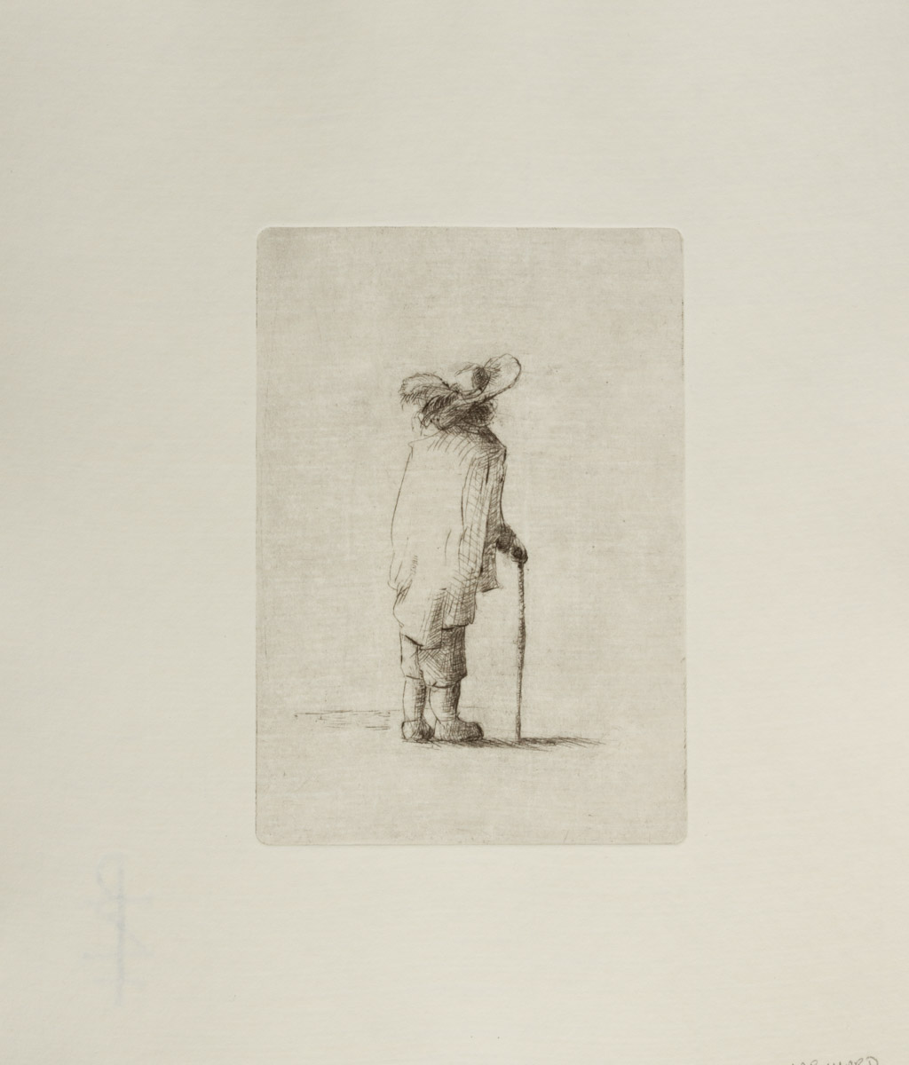 Cloak and Feather - Drypoint (2017)   $120-$175