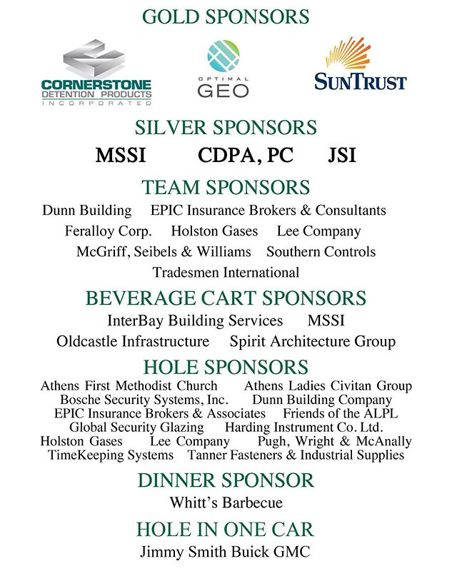 It was a record year at the Cornerstone Classic Charity Golf Tournament thanks to Cornerstone and all of our wonderful sponsors! We are so thankful for the overwhelming support of the Athens Limestone Public Library Foundation.