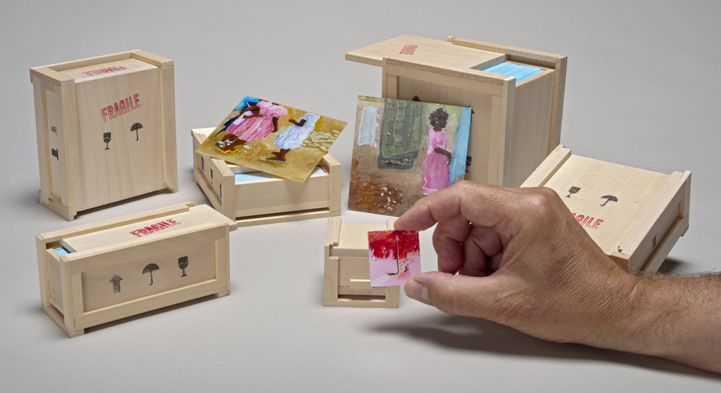 Shipping containers carry miniature landscape paintings.jpg