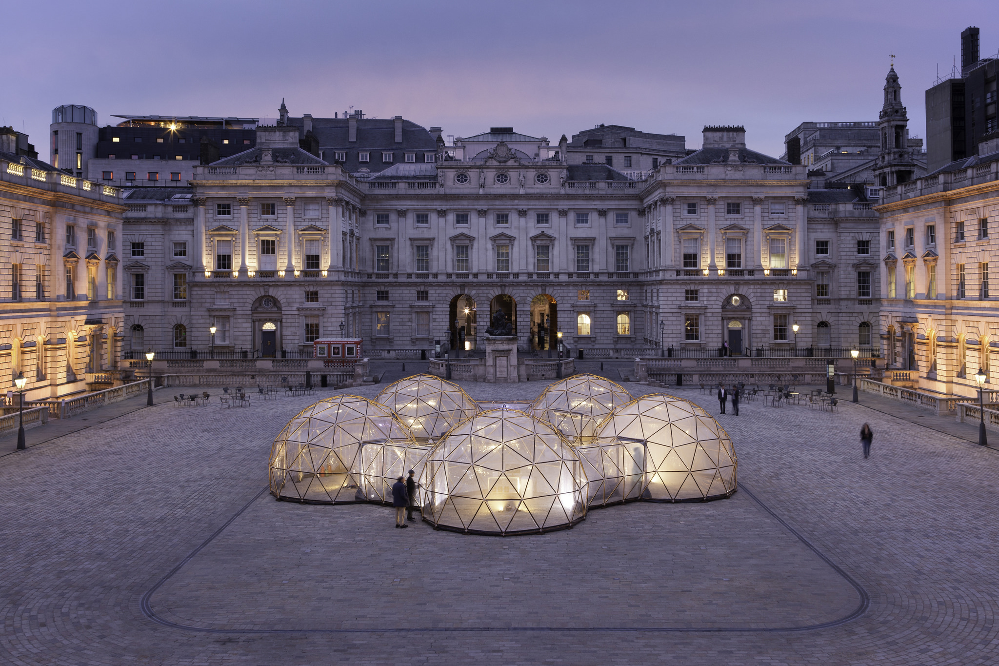 The Pollution Pods at Somerset House